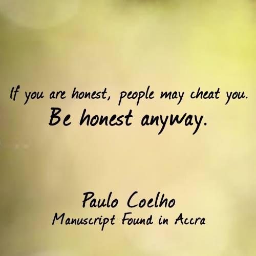 Jos olet rehellinen...